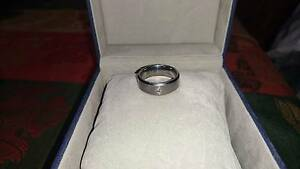 Men's tungsten and diamond wedding ring Quinns Rocks Wanneroo Area Preview