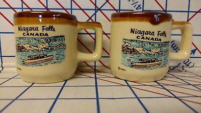 Niagara Falls Canada Shot glass Mini Coffee Mug Vintage Rare Made in Japan 2X ](Glass Mugs In Bulk)