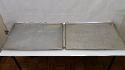 Lot Of 2 - Ecko Aluminum Commercial Sheet Baking Oven Pan 25 X 17 Inches Xl  Sh