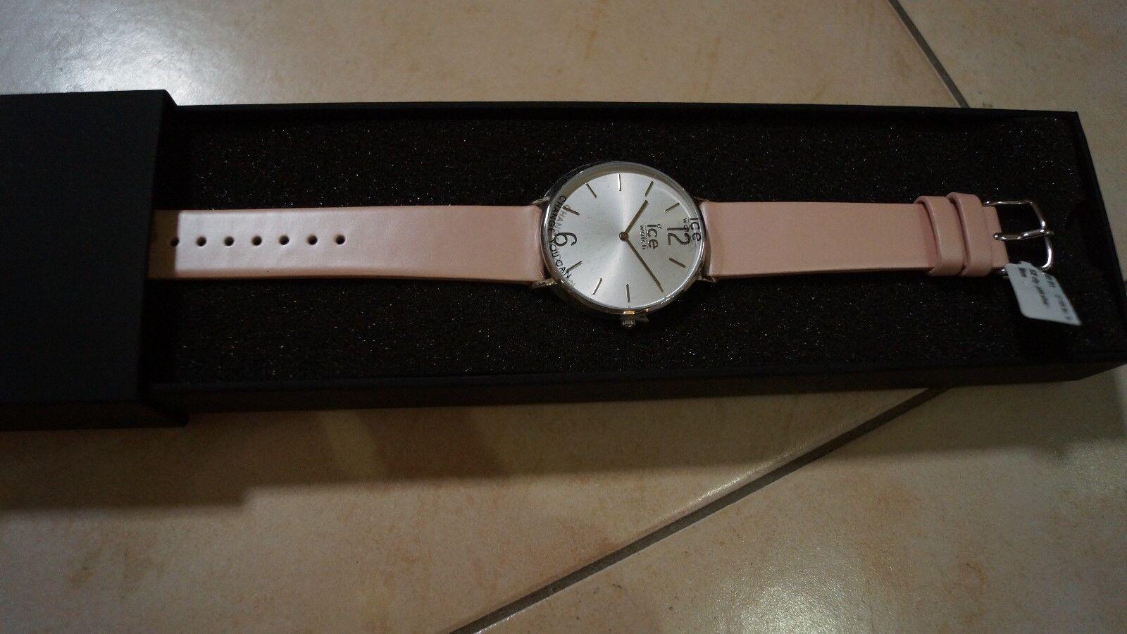 Uhr Damen Ice Watch City Pink silver CT.PSR.36.L.16 Lederarmband NEU OVP