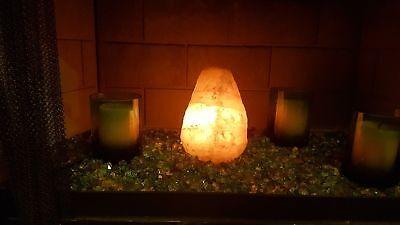 Natural Himalayan Salt Lamp 100% Satisfaction! Best Night Light for Bedroom BIG! ()