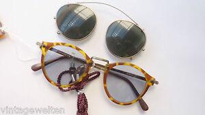 Humphreys Lichtschutzbrille helle Tönung mit Sonnenbrillen Clip Pantoform unisex