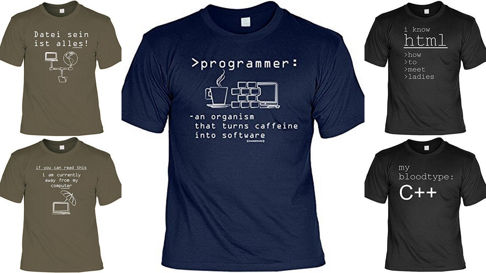Cooles Fun Partyshirt - Funshirt Partysprüche - Computer Sprüche T-Shirt Nerd