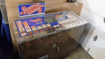 "1960's JJ PARKER ""OVER and UNDER"" Craps Dice Game ANTIQUE Gambling Slot Machine"