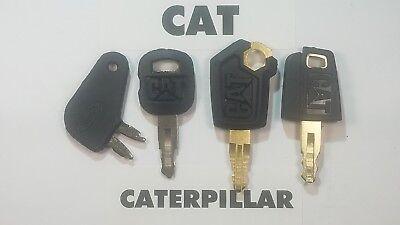 4 Caterpillar Keys Cat Heavy Equipment Ignition Dozer Excavator Skidsteer Key