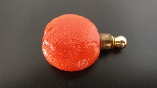 Antique Vintage Perfume Bottle German Blown Glass Orange Fruit 1920