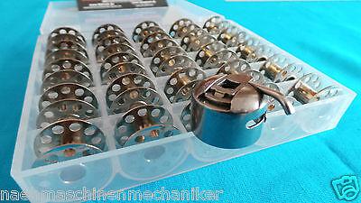 25 CB Spulen + Spulenkapsel für AEG,W6,Privileg,Pfaff,Bernette,FIF + Spulen Box online kaufen