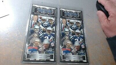 LOT OF 2 / ,  New England Patriots 100 Consecutive Sellouts Commemorative Ticket