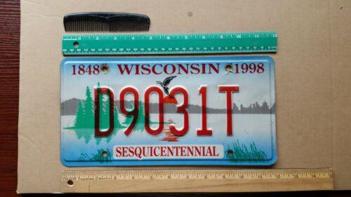 License Plate, Wisconsin, 1998, Sesquicentennial, D 9031 T