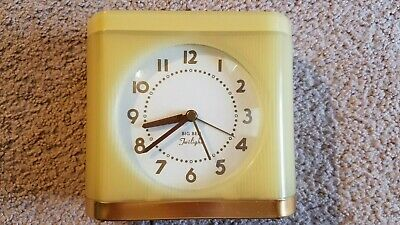Vintage Westclox Big Ben Twilight Alarm Clock Night Light Model #43002 Yellow