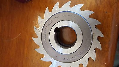 Cleveland Twist Drill Slit Cutter Saw Milling 18 Tooth 4 X 1 12 X 1 14 Hs C