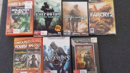 7 x PC computer Games - Call of Duty, COD MW Nudgee Brisbane North East Preview