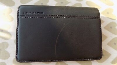 Genuine  Land Rover black leather passport case in presentation box new unused