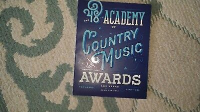 Academy Country Music Awards Acm 2013 Official Program Excellent Las Vegas Music