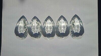 5 x 2 ½ ins(63mm) Normal Pattern Pear chandelier drops(G3)