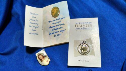 LOT OF 3 CATHOLIC / CHRISTIAN PIN / PENDANT / CHARM JESUS, MARY & ANGEL