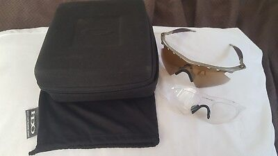 Oakley M Frame Vented Root Beer Lens Silver One-Piece Frame w/ extra (Oakley One Lens Sunglasses)