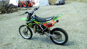 2007 kx Kawasaki 100 competition dirt bike
