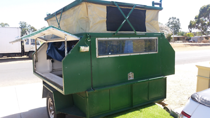 7x5 trailer with camper on top with pop top