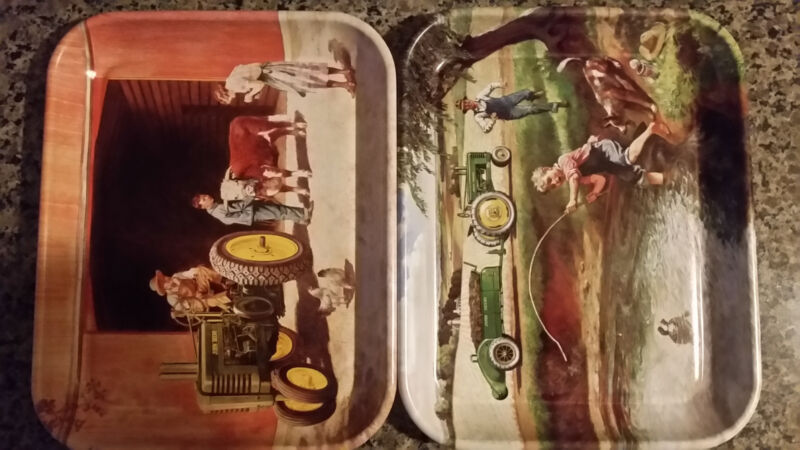 "2 JOHN DEERE TRAYS  "" WINNERS ALL"" AND ""TURTLE TROUBLE """