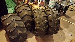 A Set of used ATV tires