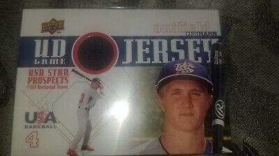 2009 Upper Deck Signature Stars Cory Hahn UD Game Jersey Memorabilia