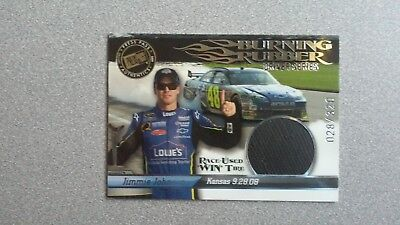 Jimmie Johnson Driver Series (2009 Press Pass Burning Rubber Driver Series Jimmie Johnson #BRD29 WIN Tire)
