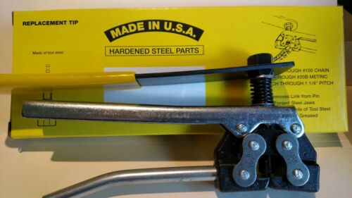 Roller Chain Breaker Tool for #60 thru #100 Chain - Made in USA