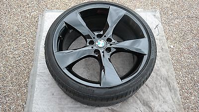 "BMW 7 SERIES OEM FACTORY STYLE 311 GROSS BLACK 21"" WHEEL/TIRE/TPMS & CAP SET"