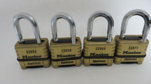 Lot of 4 Master Lock Pro Series Combination Padlock 1175
