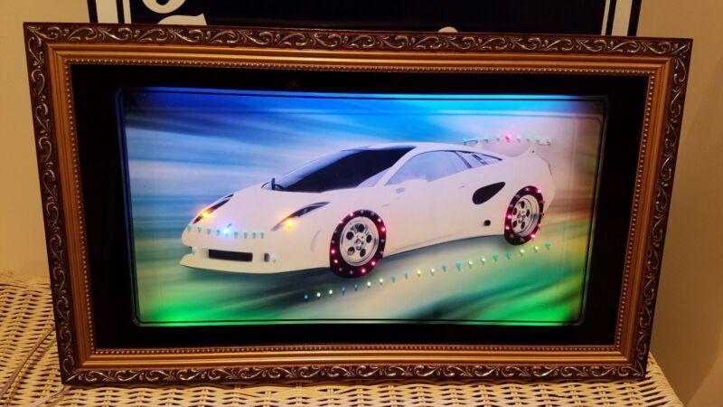 Lamborghini Color Neon & Led Picture Framed