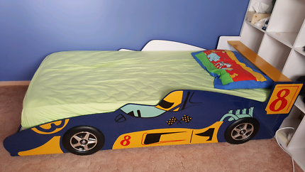 Kids Single Car Bed with Mattress