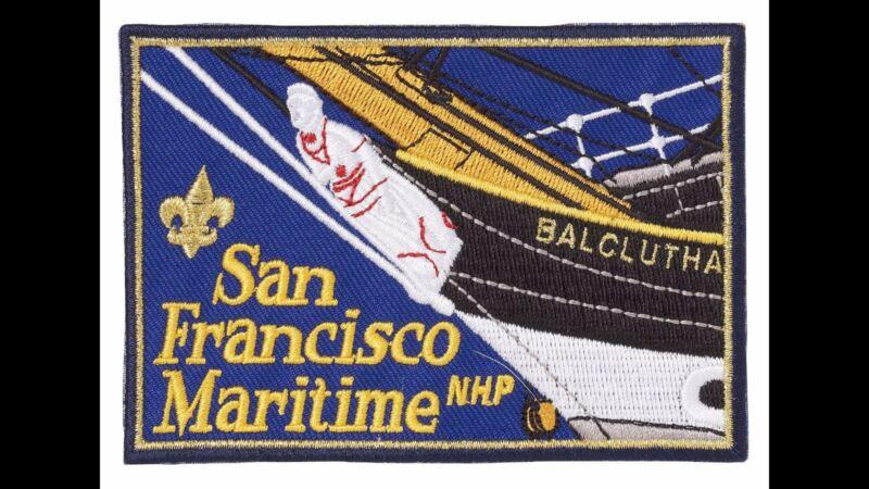 BOY SCOUT LICENSED SAN FRANCISCO MARITIME NATIONAL HISTORIC PARK JACKET PATCH
