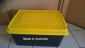 5 X 72 LT Plastic Storage Bin Boxes With Lid heavy Duty Crate Containter