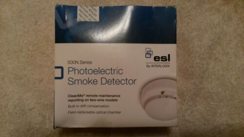 Interlogix ESL 541NCSXT Four Wire Smoke Detector Built in Sounder Heat Sensor