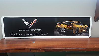"""Corvette yellow C7 aluminum sign 6"""" x 24"""""""