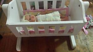 Baby Born Doll and Accessories, clothes and doll cot - Valley Vie Valley View Salisbury Area Preview