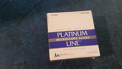 Lot Of 720 Mercedes Platinumline Starfrost Microscope Slide Mer 725590wh
