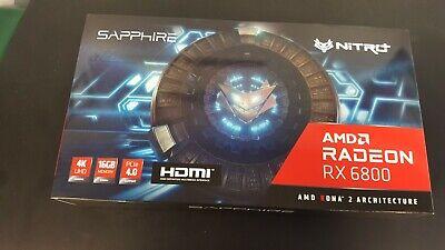 SAPPHIRE NITRO+ AMD Radeon RX 6800 Gaming Graphics Card with 16GB GDDR6 OC