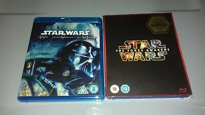 Star Wars Trilogy Force Awakens Blu-Ray New Hope Empire Strikes Back Return Jedi