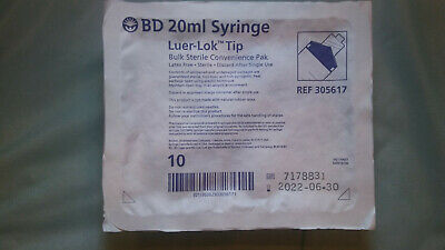 Bd 20ml Luer-lok Tip Bulk Sterile Convenience Pak Ref 305617 Lot Of 90
