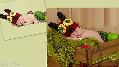 ★★★ NEU Baby Fotoshooting Kostüm Kleine Raupe Nimmersatt - Baby Raupe Kostüm