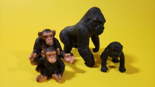 Schleich Lot 4 GORILLA CHIMPANZEE WILD ANIMAL Toy Figure
