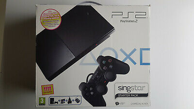 Playstation 2 slim singstar pack ps2 charcoal black