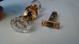 Vintage, glass doorknobs