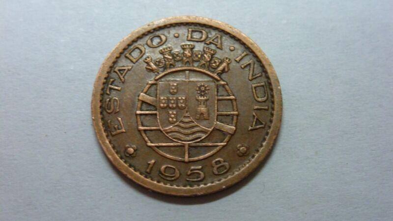 India-portuguese 10 Centavos, 1958 KM#30, XF