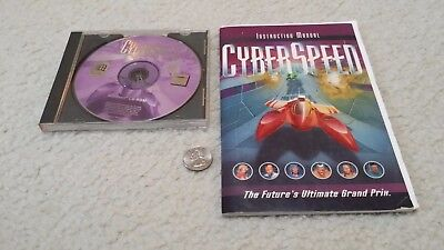 PC CD ROM CyberSpeed Cyber Speed with original case, manual and instruction card