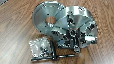 8 6-jaw Self-centering Lathe Chuck W. Topbottom Jaws D1-4 Adapter Back Plate