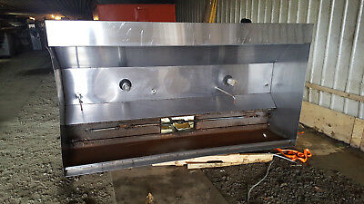 8 12 Foot Exhaust Hood Vent Commercial Kitchen Stainless Steel Have 2 Available