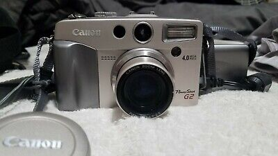 Used Canon PowerShot G2 4.0MP Digital Camera + Accessories TESTED Working